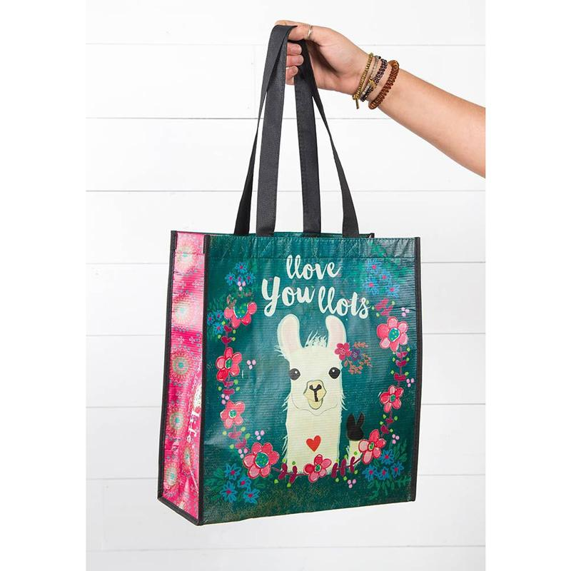 Llove You Llots Llama Large Recycled Bag