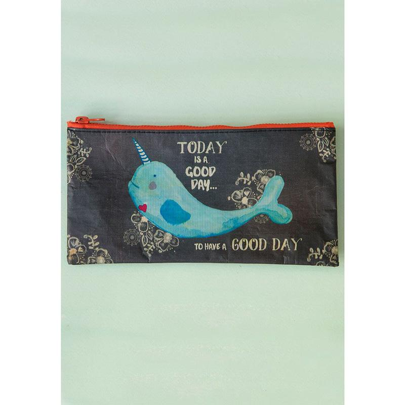 Today Is A Good Day Recycled Pencil Pouch