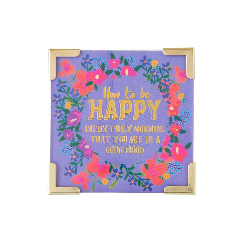 How To Be Happy Corner Magnet