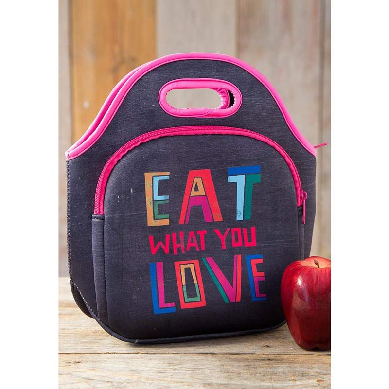 Eat What You Love Neoprene Lunch Bags