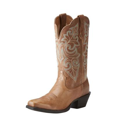 Women's Round Up Square Toe Western Boot