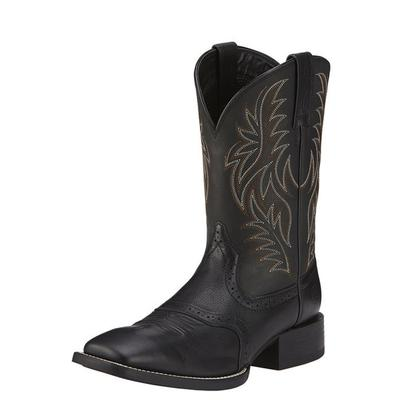 Men's Sport Wide Square Toe Western Boot