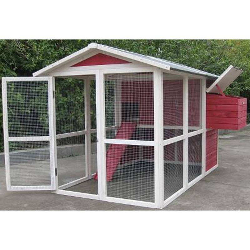 Coops & Feathers ™ Medium Hen House Vintage Red