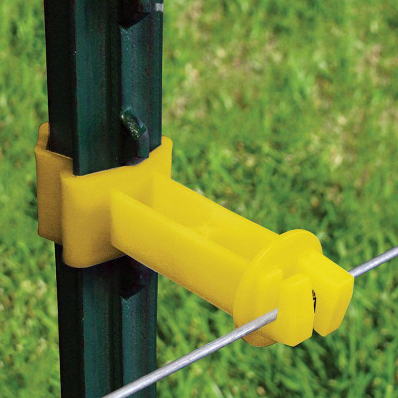 T- Post 2in Extension Insulator Yellow 25/Pk