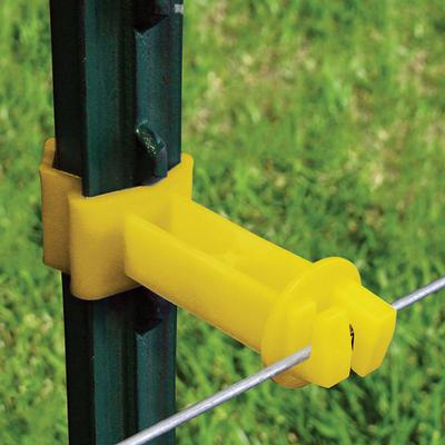 T-Post 2in Extension Insulator Yellow 25/pk