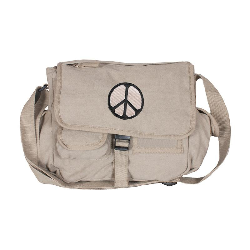 Retro Messenger Bag - Peace