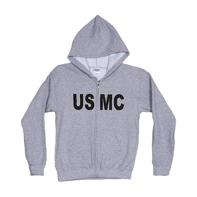 Hooded Sweatshirt - Full Zip - USMC