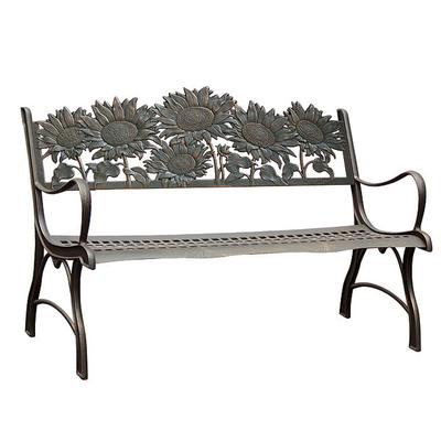 Cast Iron Garden Bench - Wildflower