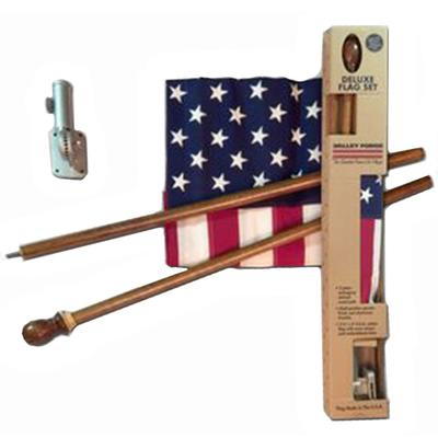 Boxed U.S. Flag Kit With Mahogany Pole