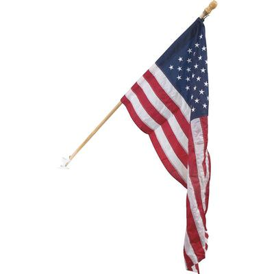 American Flag w/6 Ft. 2 pc Wood Pole Kit
