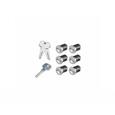 SKS Lock Cores with Keys - 6 Pack