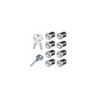 SKS Lock Cores with Keys - 8 Pack