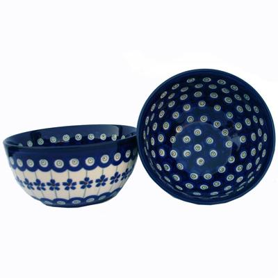 Flowering Peacock 2-Cup Stoneware Cereal/Salad Bowl