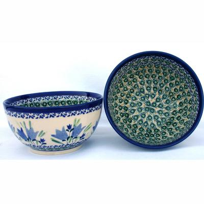 True Blues 2-Cup Stoneware Cereal-Salad Bowl