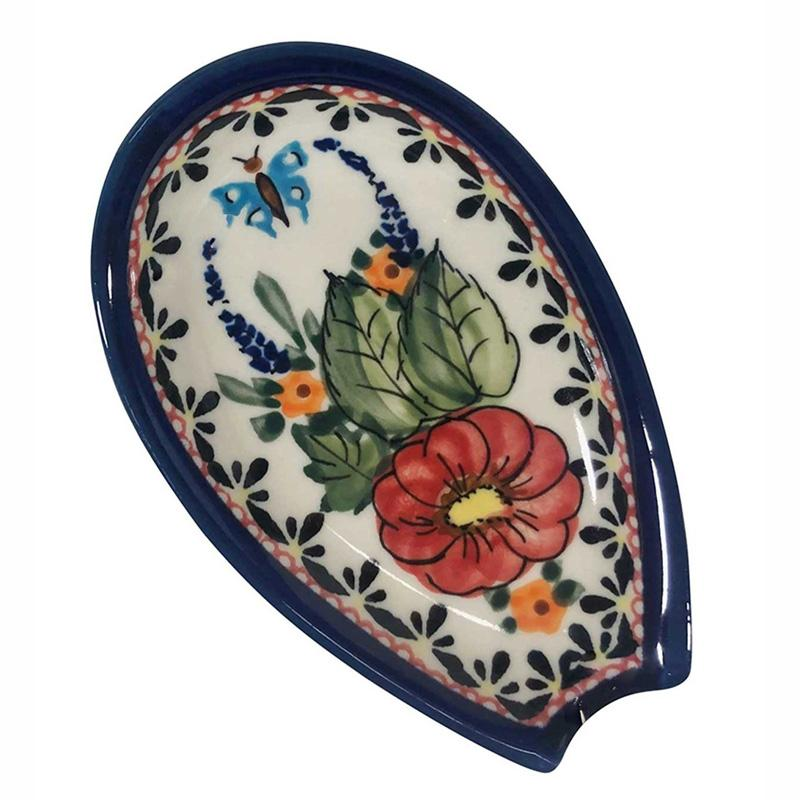 Butterfly Merry Making Stoneware Spoon Rest