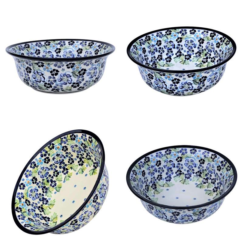 True Blues Stoneware All Purpose Baker- Serving Bowl