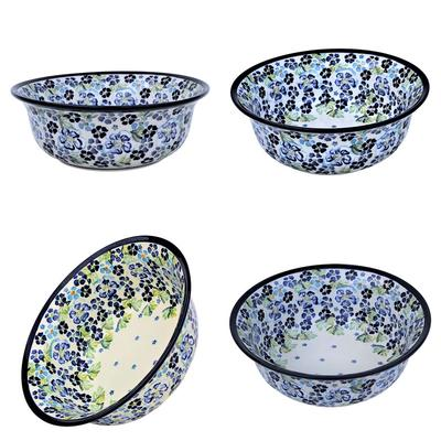 True Blues Stoneware All Purpose Baker-Serving Bowl