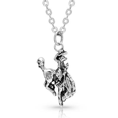 Hang On To Your Hat Bronc Rider Necklace