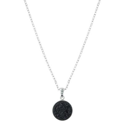 Black Druzy Glimmer Necklace Attitude Jewelry