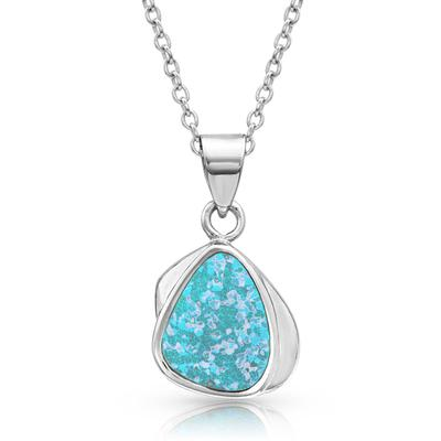 River of Lights Abstract Teardrop Necklace