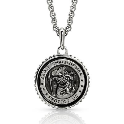 St Christopher's Prayer Medallion Necklace