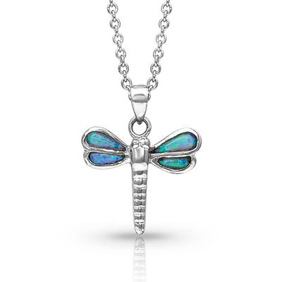 Dragonfly in Opal Necklace