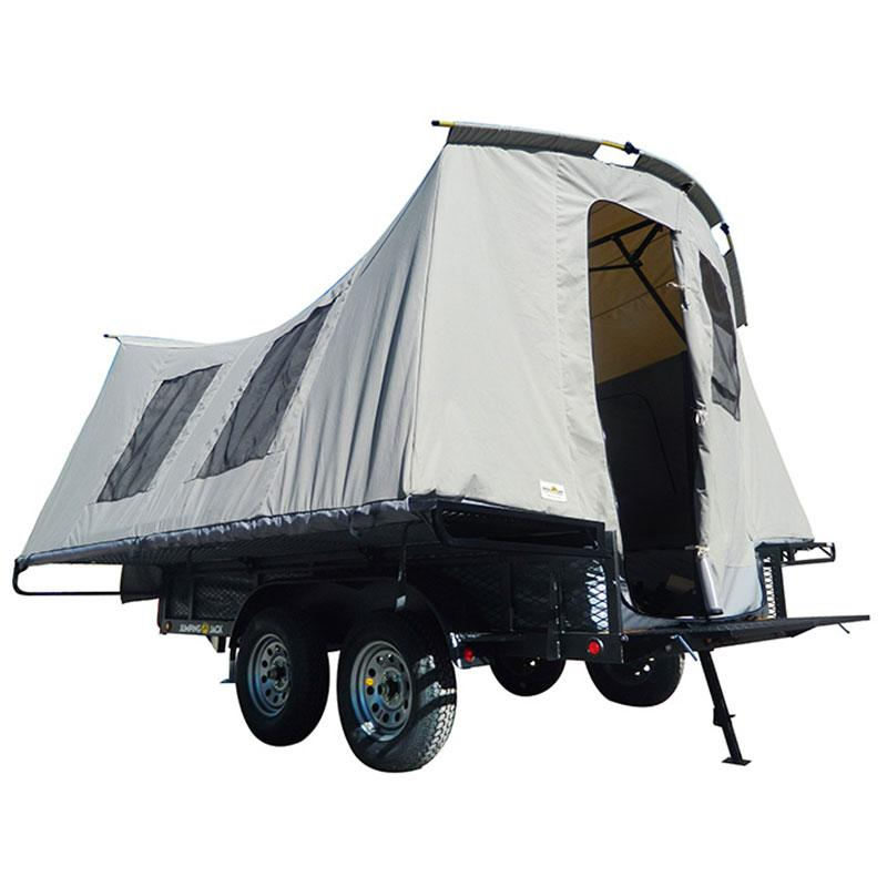 Jumping Jack 6 x 12 Ultimate Blackout Camping Utility Trailer