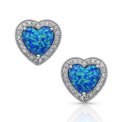 River of Lights Heart Stone Earrings