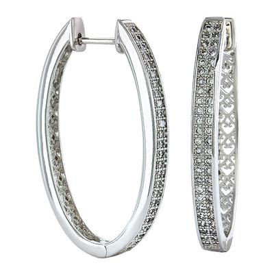 Shining Oval Earrings