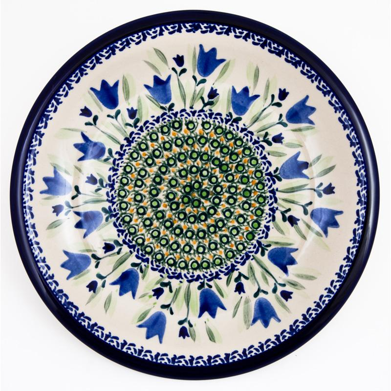 Blue Tulip Luncheon- Dinner Stoneware Plate