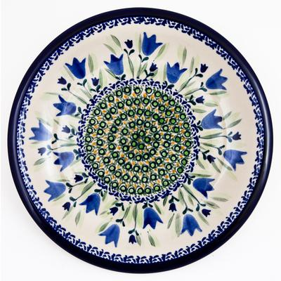 Blue Tulip Luncheon-Dinner Stoneware Plate