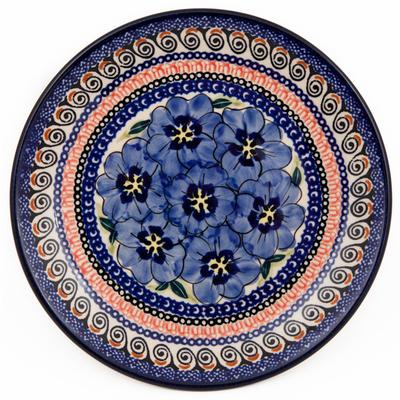 Blue Pansy Stoneware Salad Plate