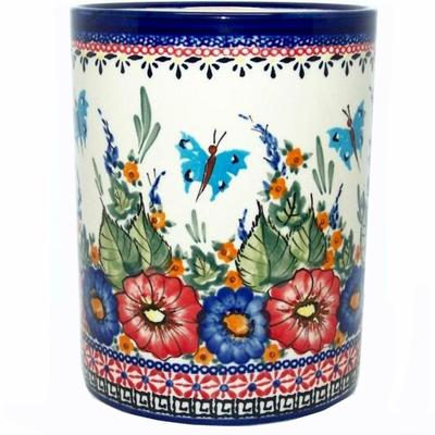 Butterfly Merry Making Stoneware Utensil Jar