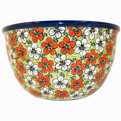 Red Bacopa 14-Cup Stoneware Mixing Bowl