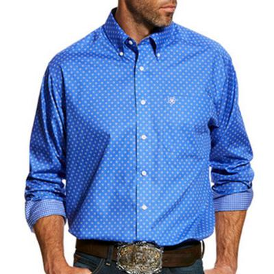Men's Wrinkle Free Landgrigan Print Shirt