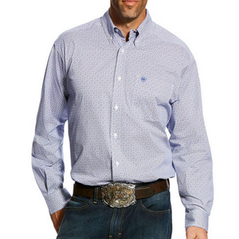 Men's Gascon Long Sleeve Stretch Print Shirt