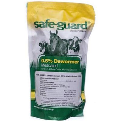 Safeguard 0.5% Medicated Dewormer for Beef & Dairy Cattle - 1 lb