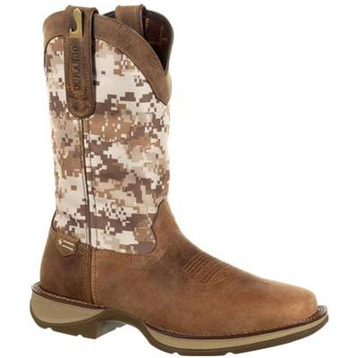 Mens Desert Camo Pull-on Western Boot