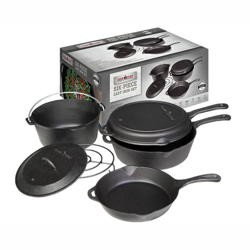 6- Piece Cast Iron Set