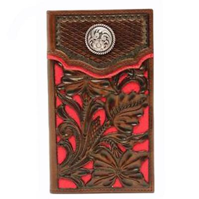 Nocona Pro Rodeo Wallet - RED INLAY