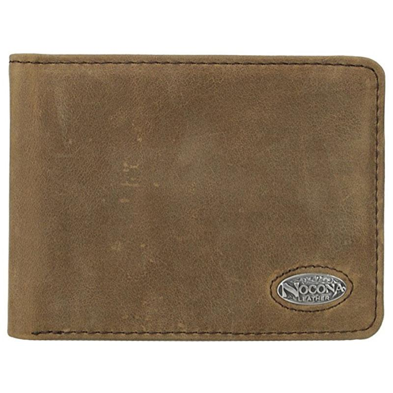 Nocona Distress Leather Bi- Fold Wallet