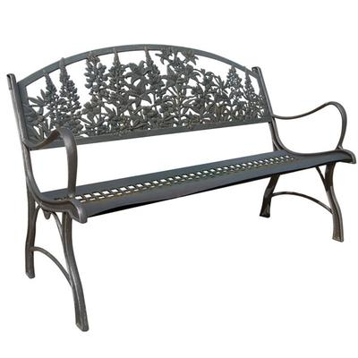 Wildflowers Cast Iron Garden Bench