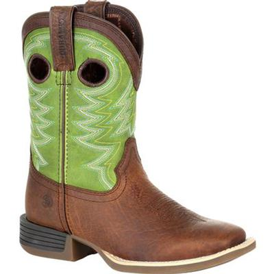 Lil' Rebel Pro Little Kid's Lime Western Boot