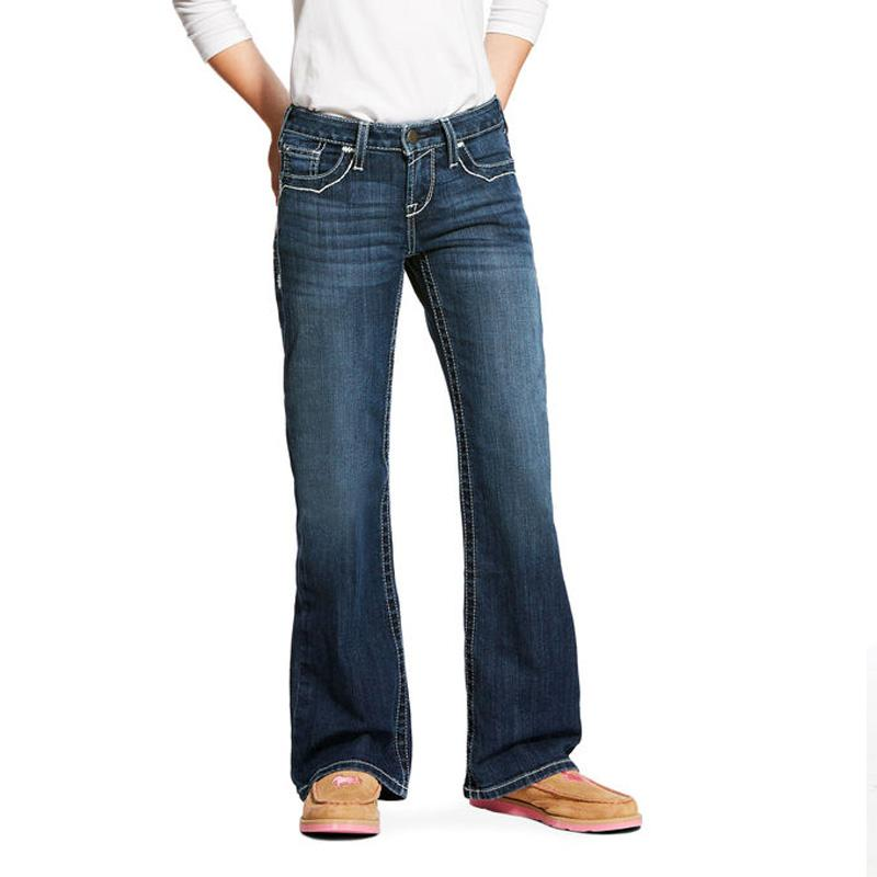 Girls ' Real Entwined Boot Cut Jean