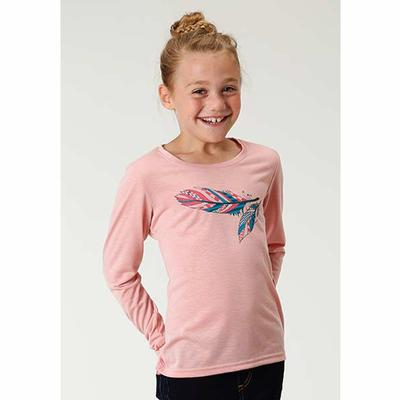 Girl's Feather Long Sleeve Shirt