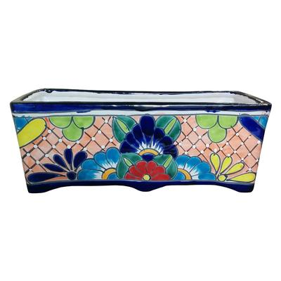 Rectangular Talavera Planter