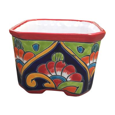 Cuadrada Talavera Planter