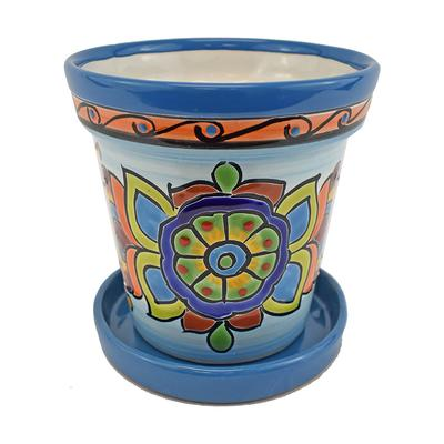 Cono w/ Saucer Talavera Planter