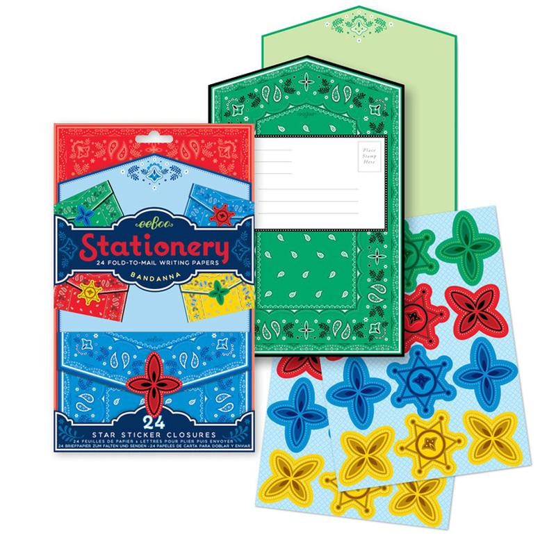 Bandana Fold- To- Mail Stationery Set