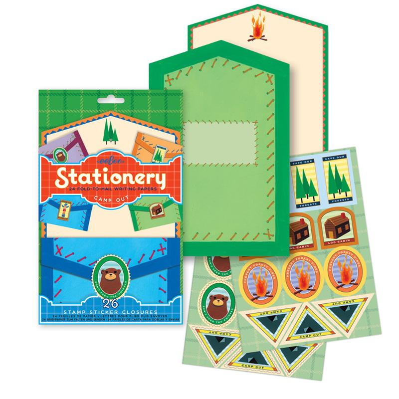 Camp Out Fold- To- Mail Stationery Set